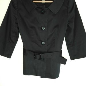 Ann Taylor Cropped Trench Coat Blazer